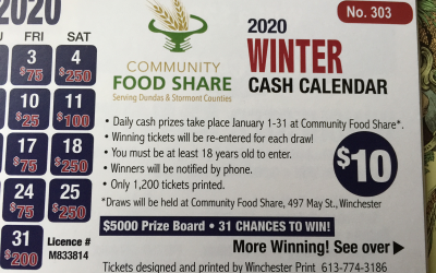 2020 Winter Cash Calendar