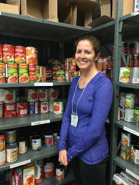 Kelly, Food Bank Volunteer
